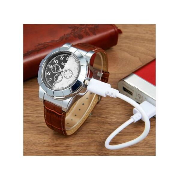 Rechargeable USB Military Lighter watch