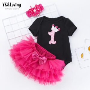 BABY GIRL One Year Birthday Dress