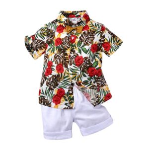BOYS Flowered top and short pant